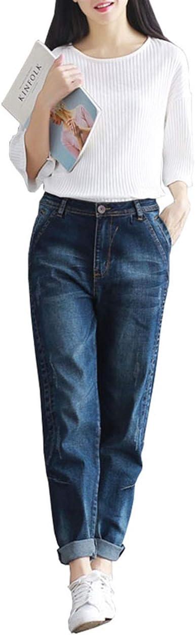 Amazon Com Boyfriend Jeans Pantalones Vaqueros Para Mujer Estilo Casual Talla Grande Ajustados Sueltos Vaqueros Pantalones Vaqueros De Cintura Alta Pantalones Vaqueros Para Mujer Moderno Xl Clothing