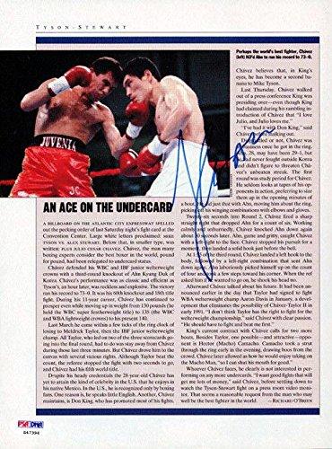 Julio Cesar Chavez Autographed Signed Magazine Page Photo S47394 PSA/DNA Certified Autographed Boxing Magazines