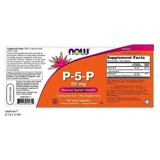 Amazon.com: P-5-P 50 mg Now Foods 90 Vcaps: Health ...