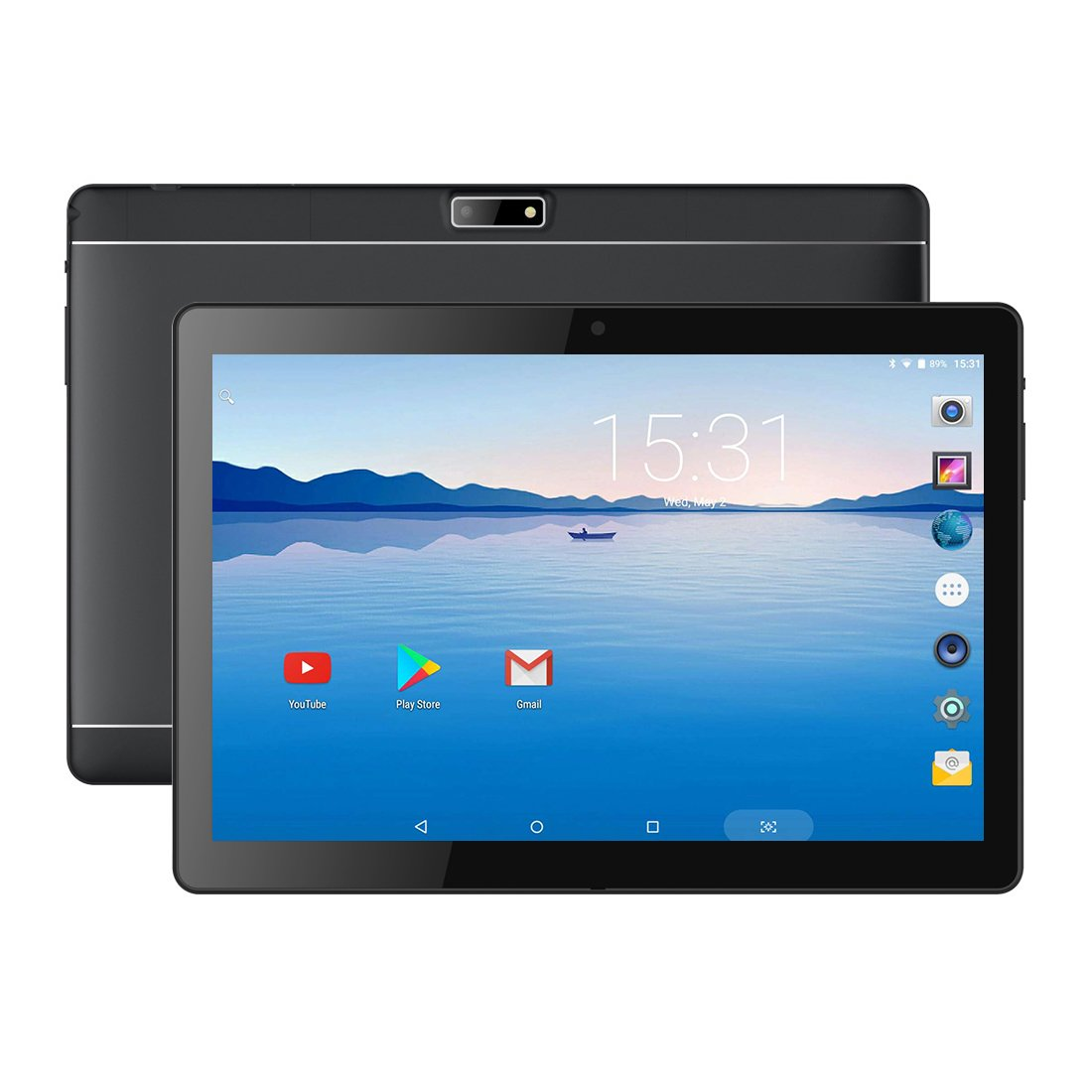 BENEVE 10.1'' Inch Android Tablet 6.0 Quad CORE/GPS Fast CPU, 2GB RAM + 16GB ROM, 1.3GHz CPU, Dual Camera, Front 2MP+Rear 5MP,WiFi, Bluetooth, HD IPS Screen, Google Play, Dual Band 5.0G WiFi by BENEVE