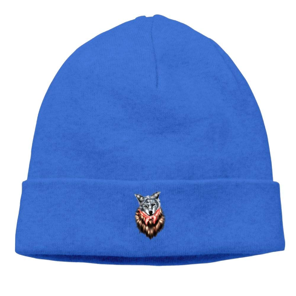 nordic runes Wolf Animal Beanie Hat Winter Warm Knit Skull Cap for Mens//Womens