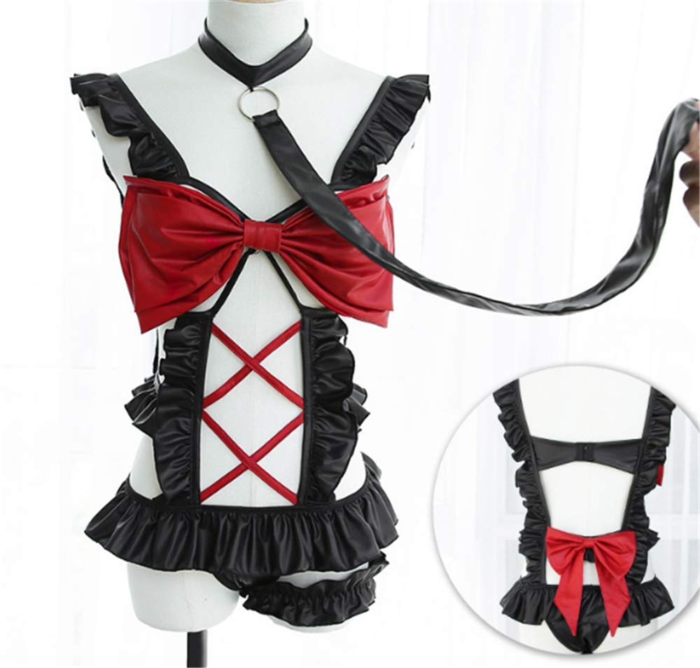 ieyol Womens Maid Cosplay Costume Lace Lingerie Set Cosplay Uniform Outfits
