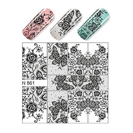 Hispanails - Water Decals calcomania para uñas - N278 Pinturas Diamant