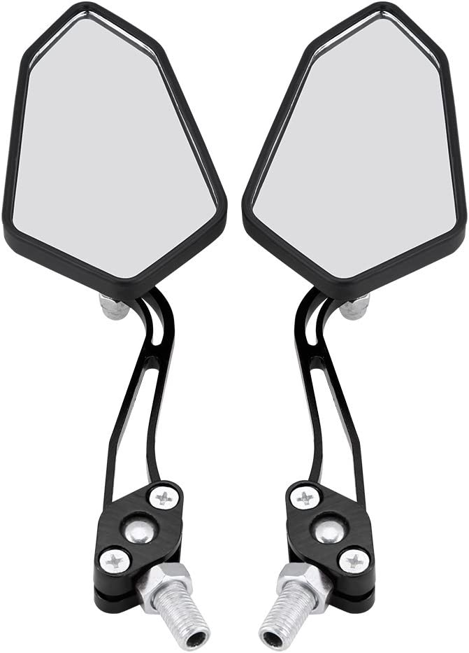 Keenso Adjustable Aluminum Handlebar Rear View Side Mirrors Motorbike Scooter 10mm 8mm 1 Pair Universal Motorcycle Rearview Side Mirrors Red