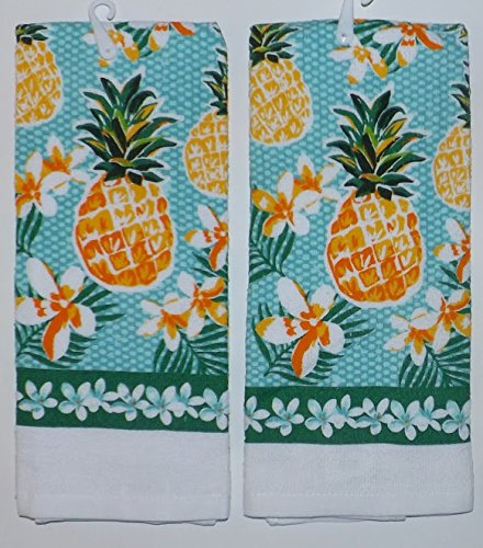 Mainstay Pineapple Hand Dish Kitchen Bathroom Towels - Set of 2
