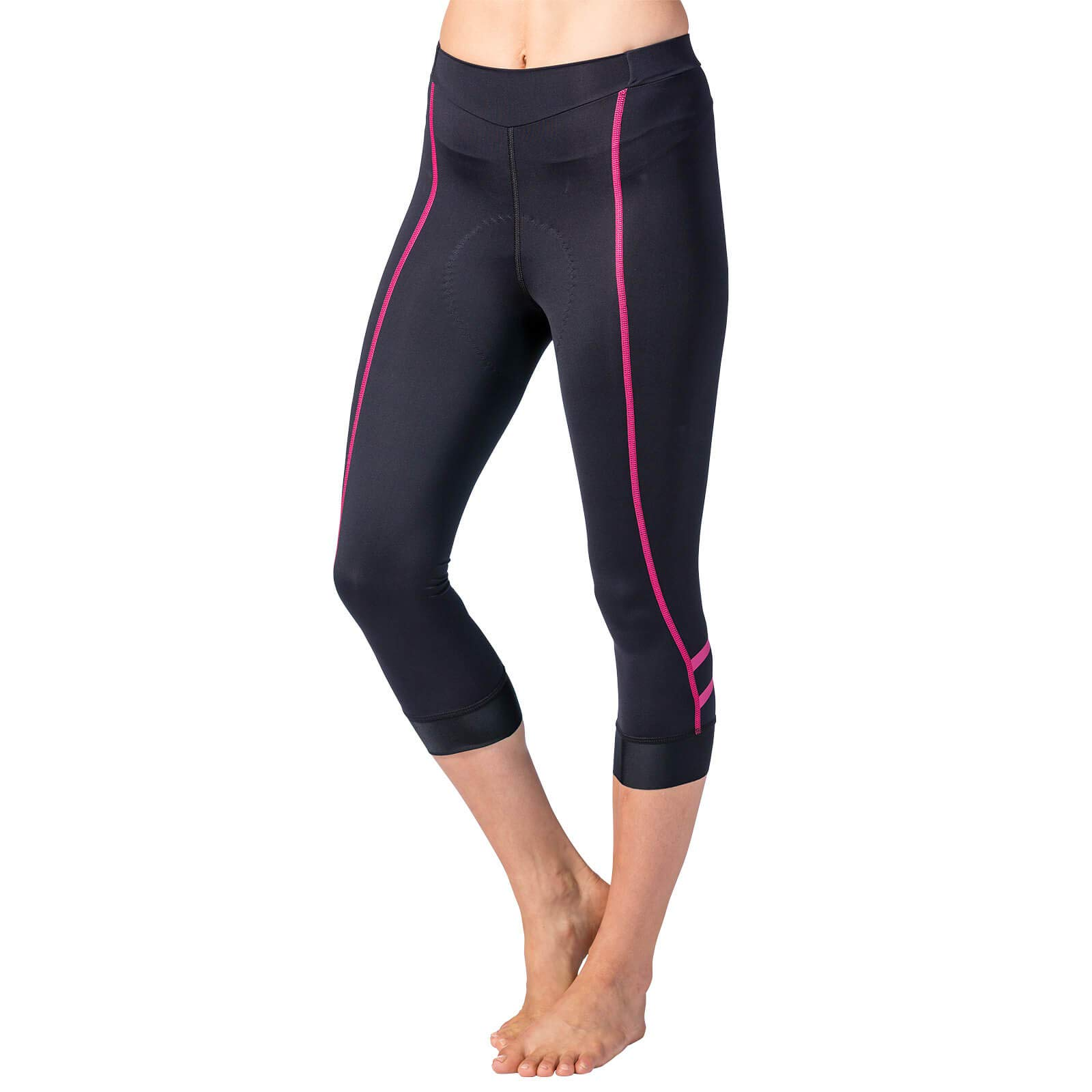 Terry Women's Cycling Bella Prima Knicker Best-in-Class Bicycling Performance Bottom That Extends Below The Knee – Black/Pink – Small