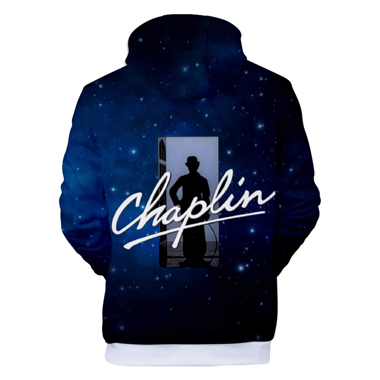 SERAPHY Chaplin 3D Print Hoodie Hooded Outerwear Spring Autumn Winter Top