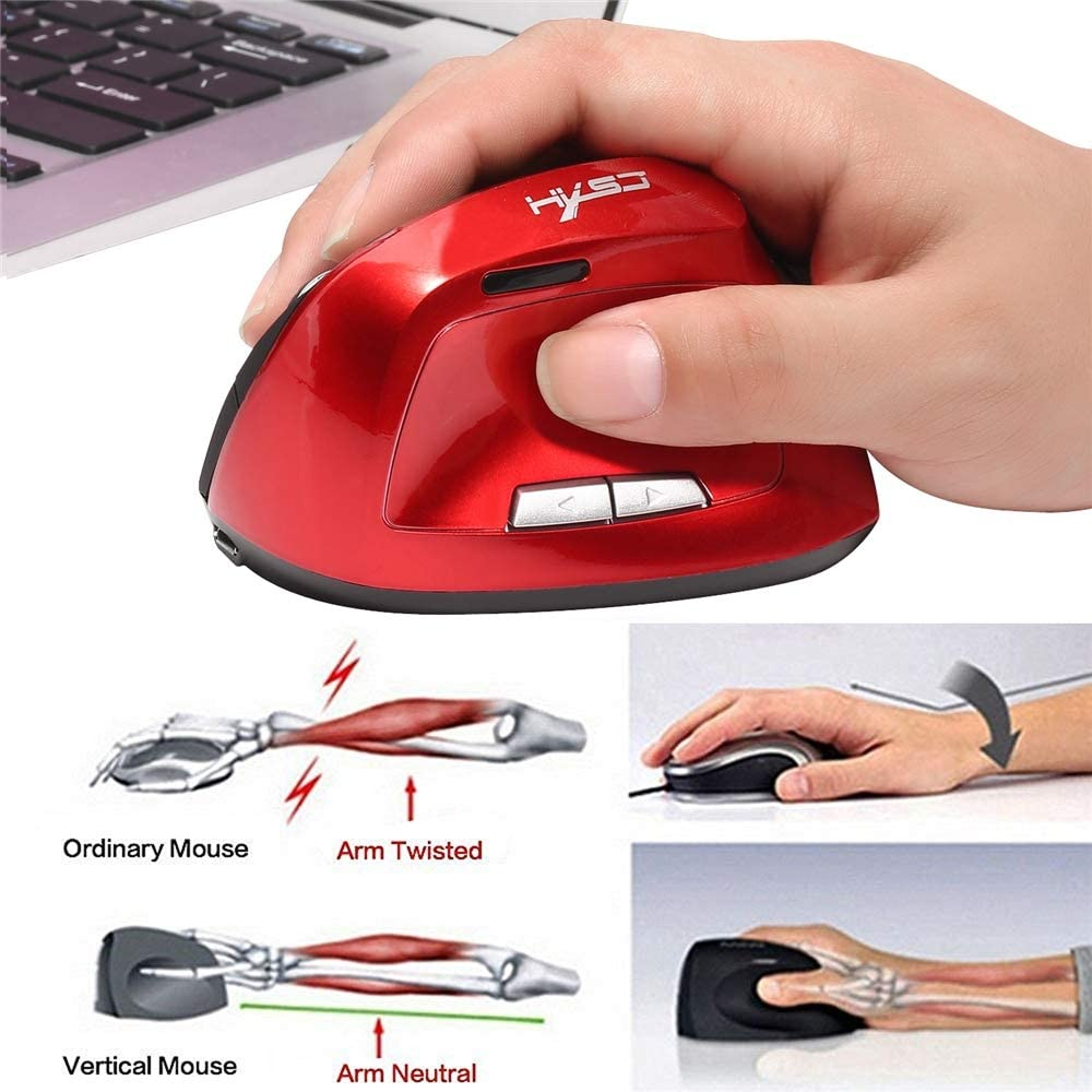 FSM88 USB Cordless Mouse 2.4G Wireless Mouse Optical Gaming /& Ergonomic with 6 Click Buttons 3 Adjustable DPI for Laptop//PC//Windows