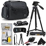 Xtech Premium Camera Case + Pro Series 72' inch Tripod for Sony Alpha A7R II, A7 II, A9, A7 A7R A7S A6500 A6300 A6000 A65 A77 A99 A900 A700 A580 A560 A550 A500 A450 A390 A380, NEX-7 NEX-6 Cameras