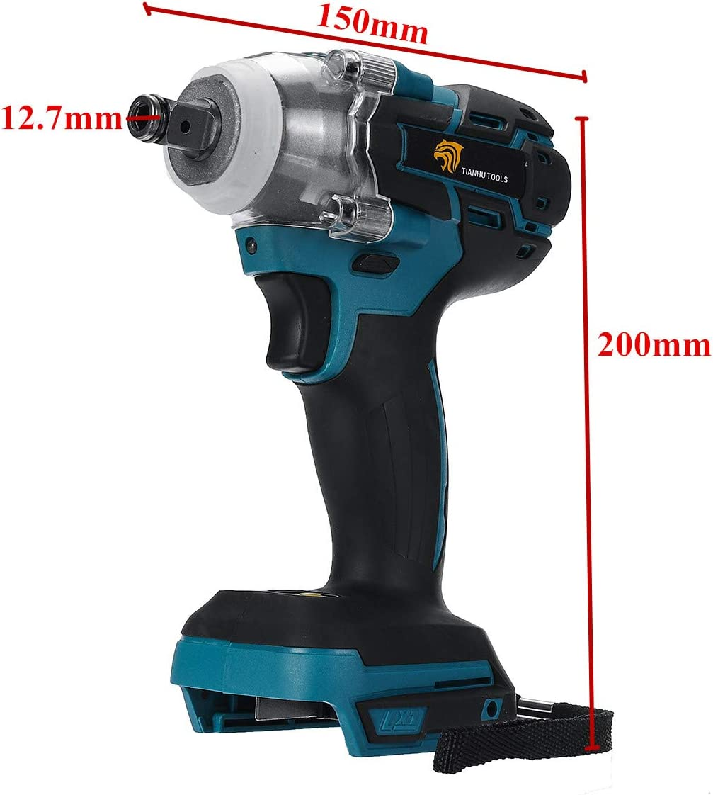 SZMYLED 18v Cordless Impact Wrench Electric Rechargeable Brushless Socket Wrench Power Tool Without Battery Accessories As