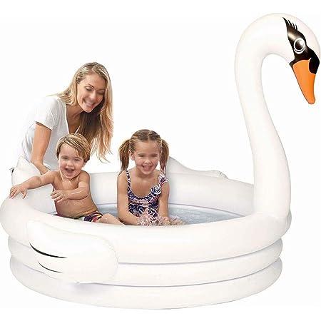 LYX Piscina for niños Flamingo Piscina Inflable del Cisne ...