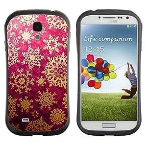LASTONE PHONE CASE / Suave Silicona Caso Carcasa de Caucho Funda para Samsung Galaxy S4 I9500 / Star Snowflake Lace Pattern Art Wallpaper
