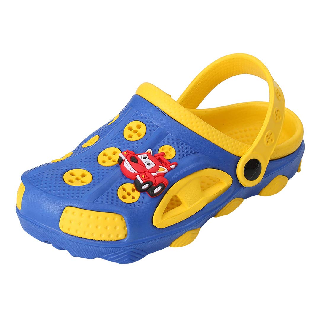 Fashion-zone Toddlers Cartoon Slides Sandals-Lightweight Garden Clogs Beach Sandals for Toddler Boys Girls (7.5 M US Toddler, Blue)