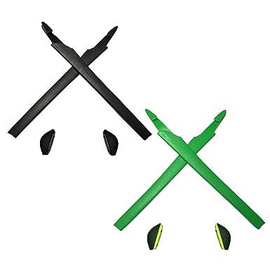 HKUCO Green Replacement Silicone Leg Set For Oakley RadarLock Sunglasses Earsocks Rubber Kit fJlWup7n