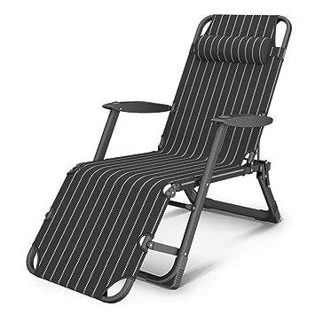 CYSHAKE Silla de jardín reclinable, con reposabrazos y ...