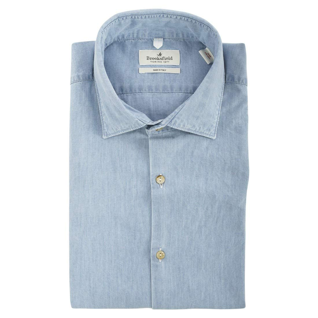 BROOKSFIELD SHIRT, SLIM FIT, SPREAD COLLAR, LONG - 42, BLEACHED