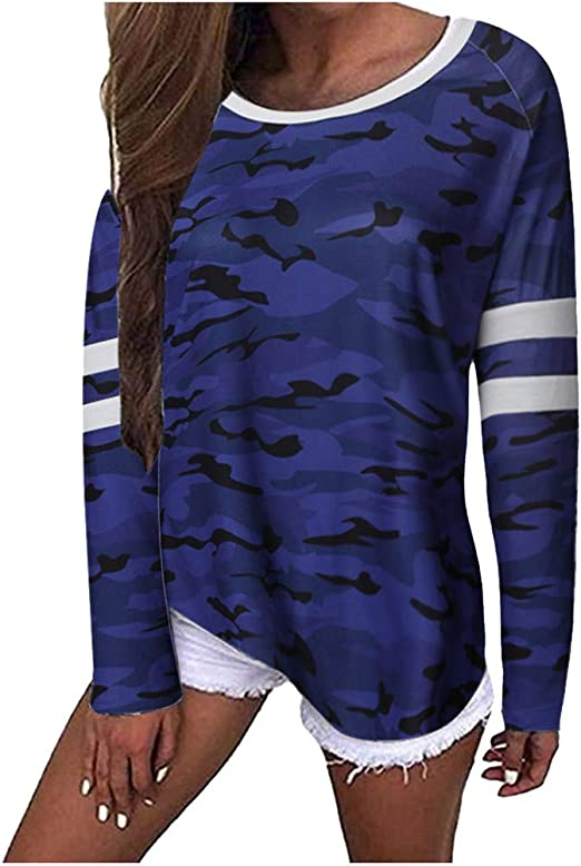 Ladies Long Sleeves 2 Pocket Leopard Army Printed Baggy Oversized Top Sweatshirt