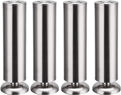 50mm x 200mm métal mobilier réglable pieds ronds de jambe du Cabinet Stand