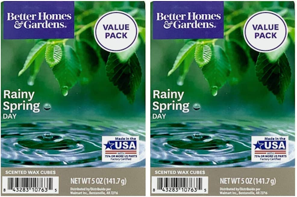 Better Homes and Gardens Rainy Spring Day Scented Wax Cubes 5oz - 2-Pack