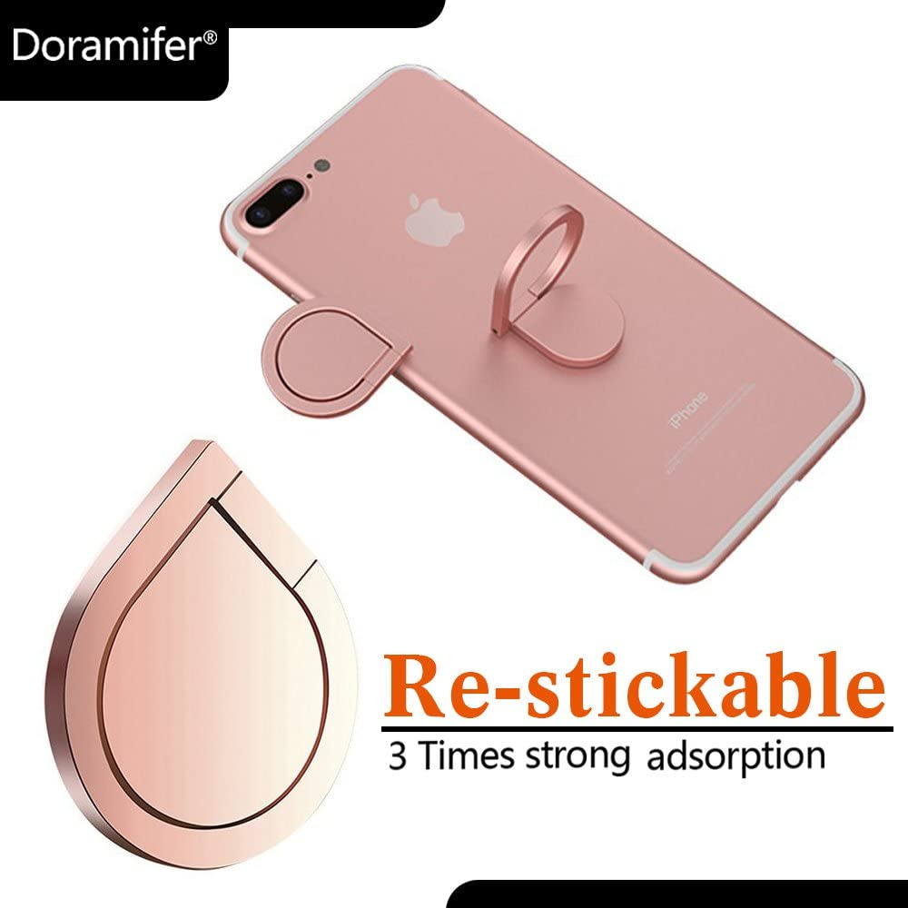 Cellphone Holder Samsung Galaxy S8//S8 Plus and Almost All Cases//Phones Red Doramifer Universal Smartphone Ring Grip Stand Car Mounts for iPhone 7//7 Plus//6S//5S