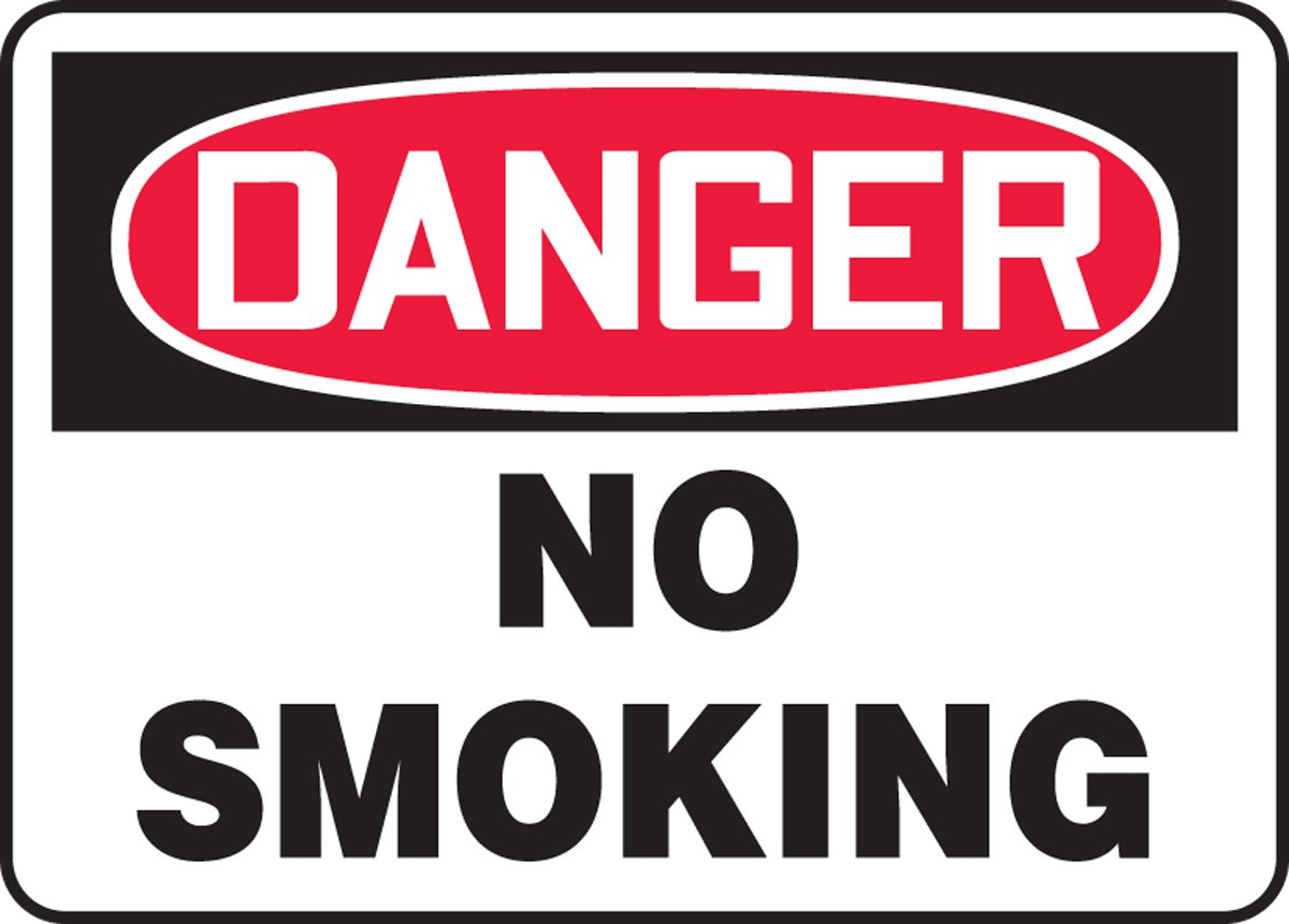 24 Wide 18 x 24 Dura-Plastic 18 Height 18 Length x 24 width x 0.060 Thickness Accuform MSMK105XT Dura-Plastic Bigsign Red//black On White 18 Length LegendDANGER No Smoking