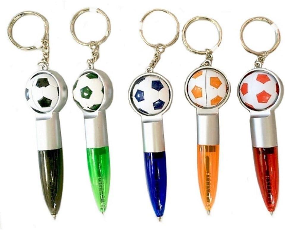 Lot de 5 stylos billes /& ballon de foot en porte clef