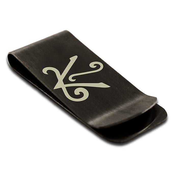 Matte Black Stainless Steel Reiki Shanti Peace Symbol Engraved Money