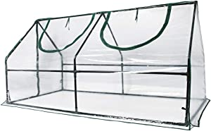 """Quictent Waterproof UV Protected Reinforced Mini Cloche Greenhouse 95"""" WX 36"""" D X 36"""" / 71"""" WX 36"""" D X 36"""" H Portable Green Hot House- 50 Pcs T-Type Plant Tags Include (71"""" X 36"""" X 36"""")"""