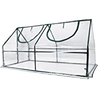 Quictent Waterproof UV Protected Reinforced Mini Cloche Greenhouse 95″ WX 36″ D X 36″ / 71″ WX 36″ D X 36″ H Portable Green Hot House- 50 Pcs T-Type Plant Tags Include (71″ X 36″ X 36