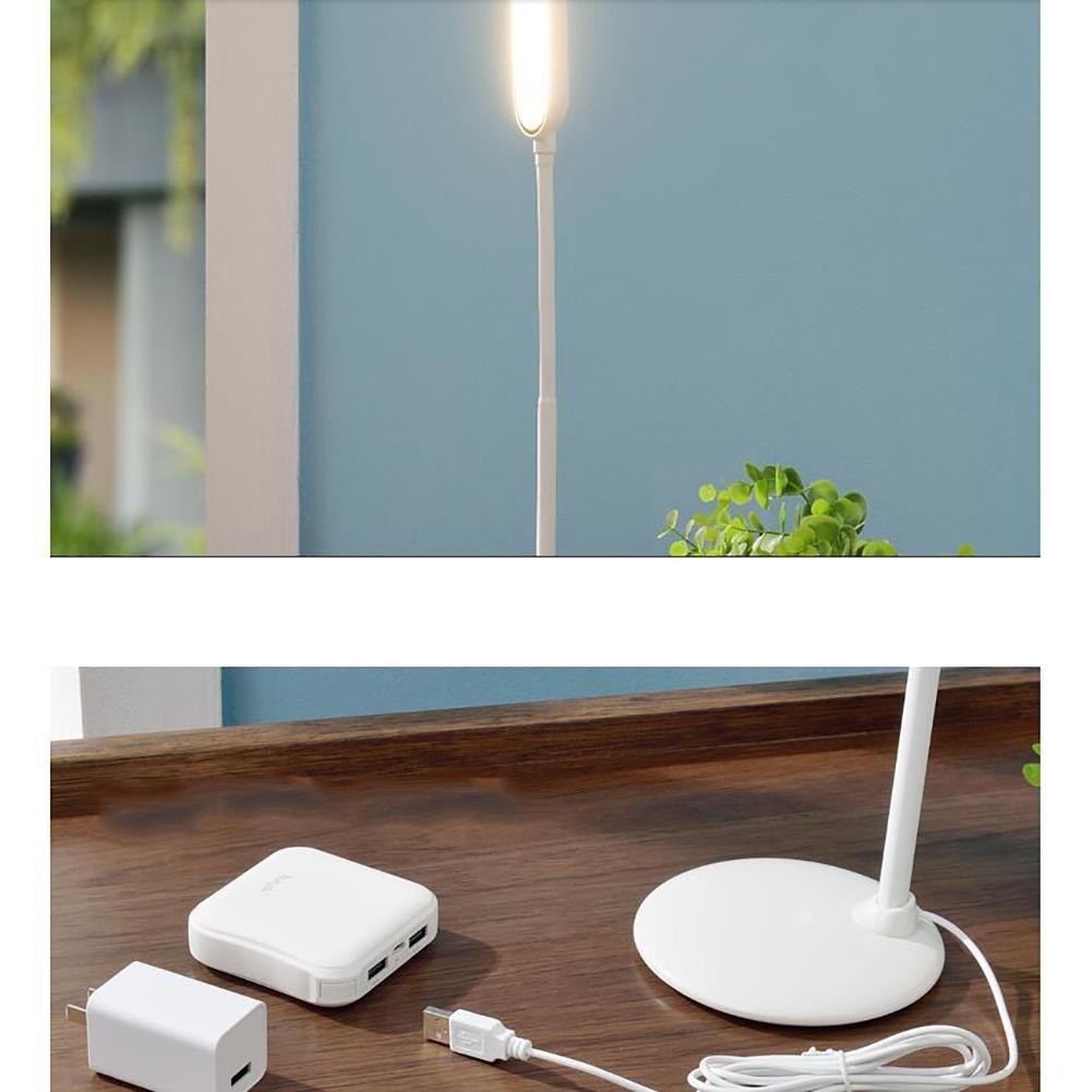 DENGS Lámpara de Mesa LED Proteger los de Ojos Dormitorio Lámpara de los Noche USB Recargable El Ahorro de energía Interruptor tactil, Blanco 05c816