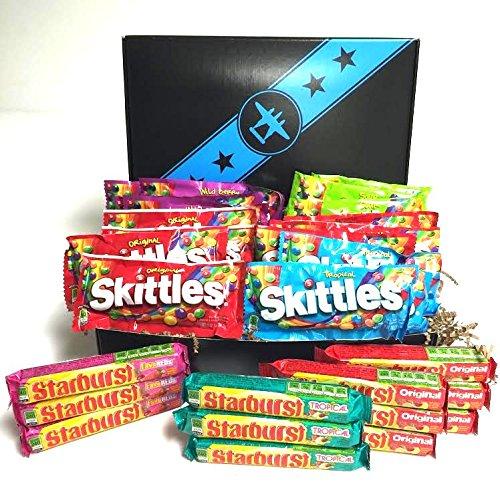 30 Skittles & Starburst Variety Pack Candy in a Bomber Gift (Pack Bomber)
