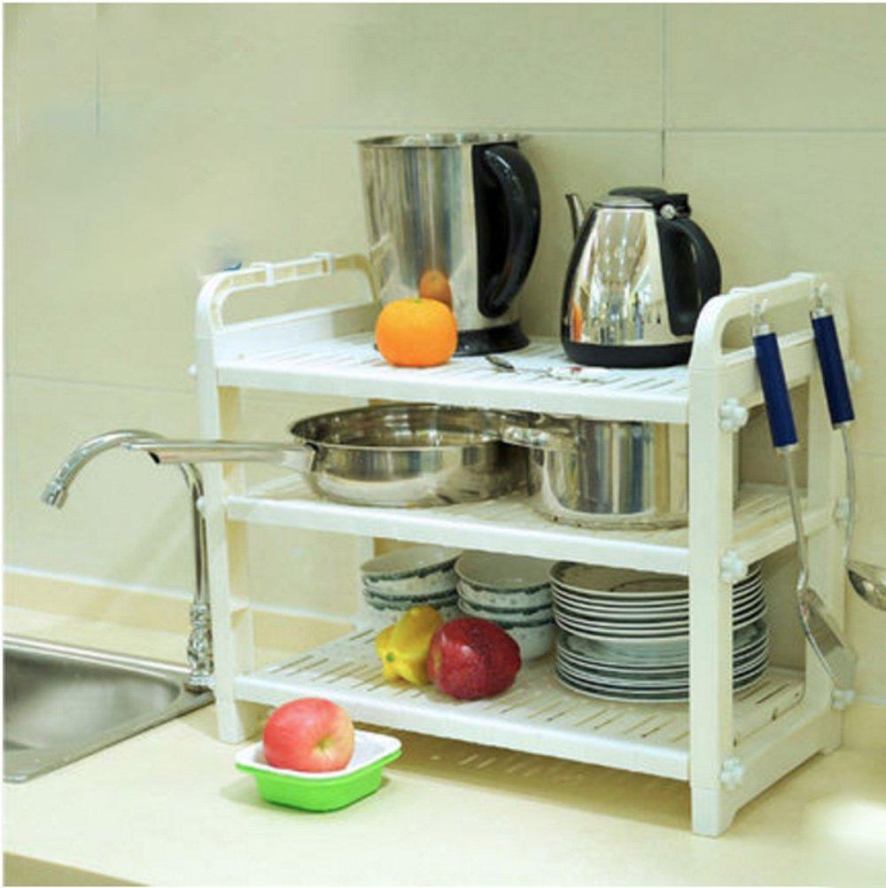 Hyun times Microwave Shelves Kitchen Supplies Pot Spatula Shelves Multi - Functional Rice Cooker Shelves Kitchen Appliances by Hyun times Bowl shelf