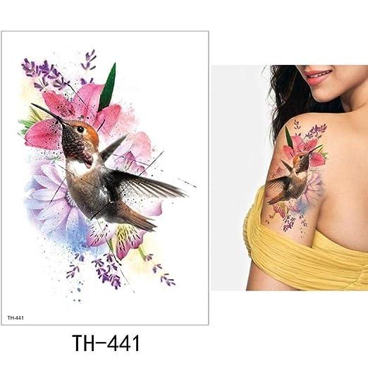 Modeganqing Pegatinas de Tatuaje de 5 Piezas Tatuaje de Flores ...