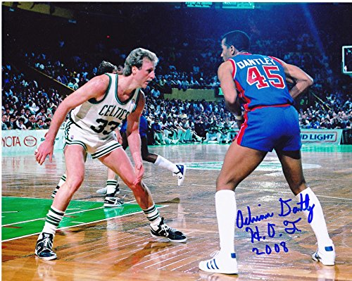 ADRIAN-DANTLEY-DETROIT-PISTONS-HOF-2008-W-LARRY-BIRD-ACTION-SIGNED-8x10-Autographed-NBA-Photos