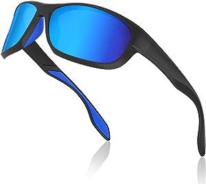 Avoalre Gafas de Sol Hombres Polarizadas Gafas Deportivas Unisex Anti UV400 Marco TR90 Súper Ligero y Mujer Ciclismo MTB Running Coche Moto Montaña