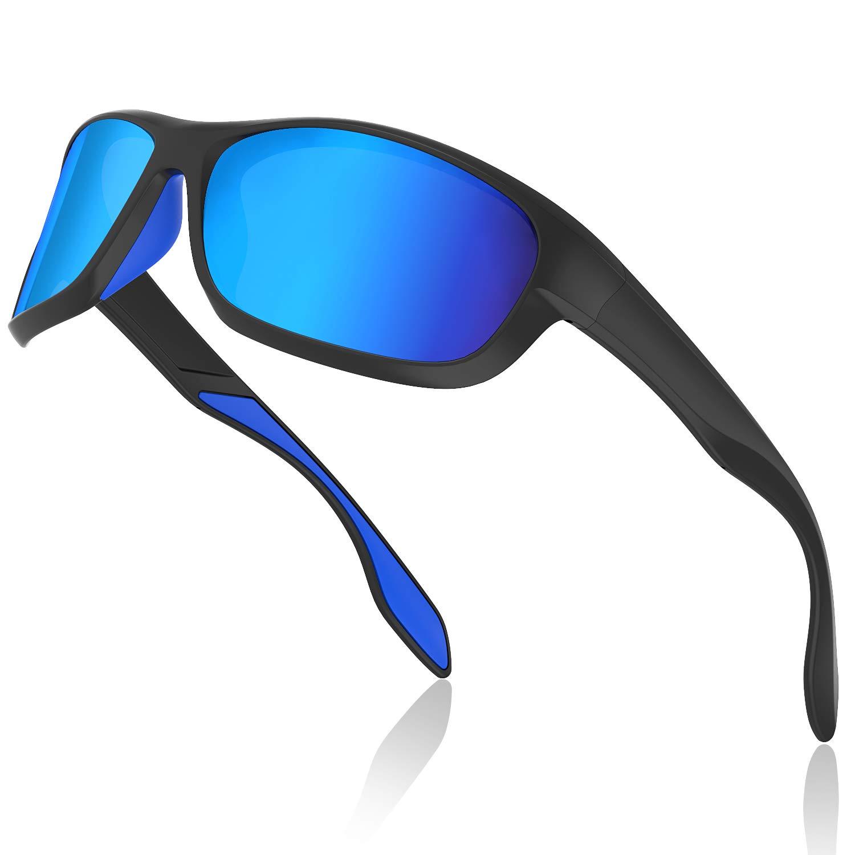 Avoalre Gafas de Sol Hombres Polarizadas Gafas Deportivas Unisex Anti UV400 Marco TR90 Súper Ligero y Mujer Ciclismo MTB Running Coche Moto Montaña - Azules product image