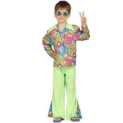 Amakando Traje Flower Power Disfraz Hippie para niños M 128 ...