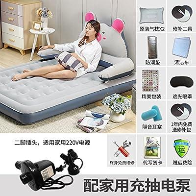 NVZJNDS Gonflable Matelas Air Lit Ménage Unique Double Air Midi Couple Intime Lit de Bande Dessinée Lit Paresseux Épaississement Extérieur