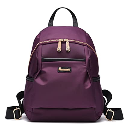 RFVBNM Mochila mujer bolsa bolsa mujer ocio impermeable Nylon Oxford tela mochila dama bolsa chica bolsa