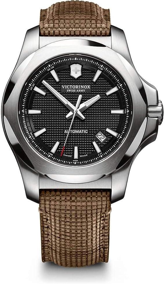 Victorinox uomo i.n.o.x mechanical - orologio automatico meccanico in acciaio inossidabile/pelle 241836