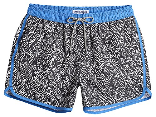 Vintage Mens Swimsuit - MaaMgic Mens Short 80s Original Swim Trunks with Mesh Lining Quick Dry Vintage Swim Trunks Bathing Suits 18111854452