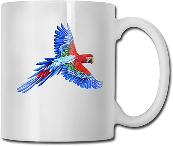 Amazon Com Macaw Parrot Bird Mug Ceramic With Large C Handle Coffee Mug Cup Home Kitchen