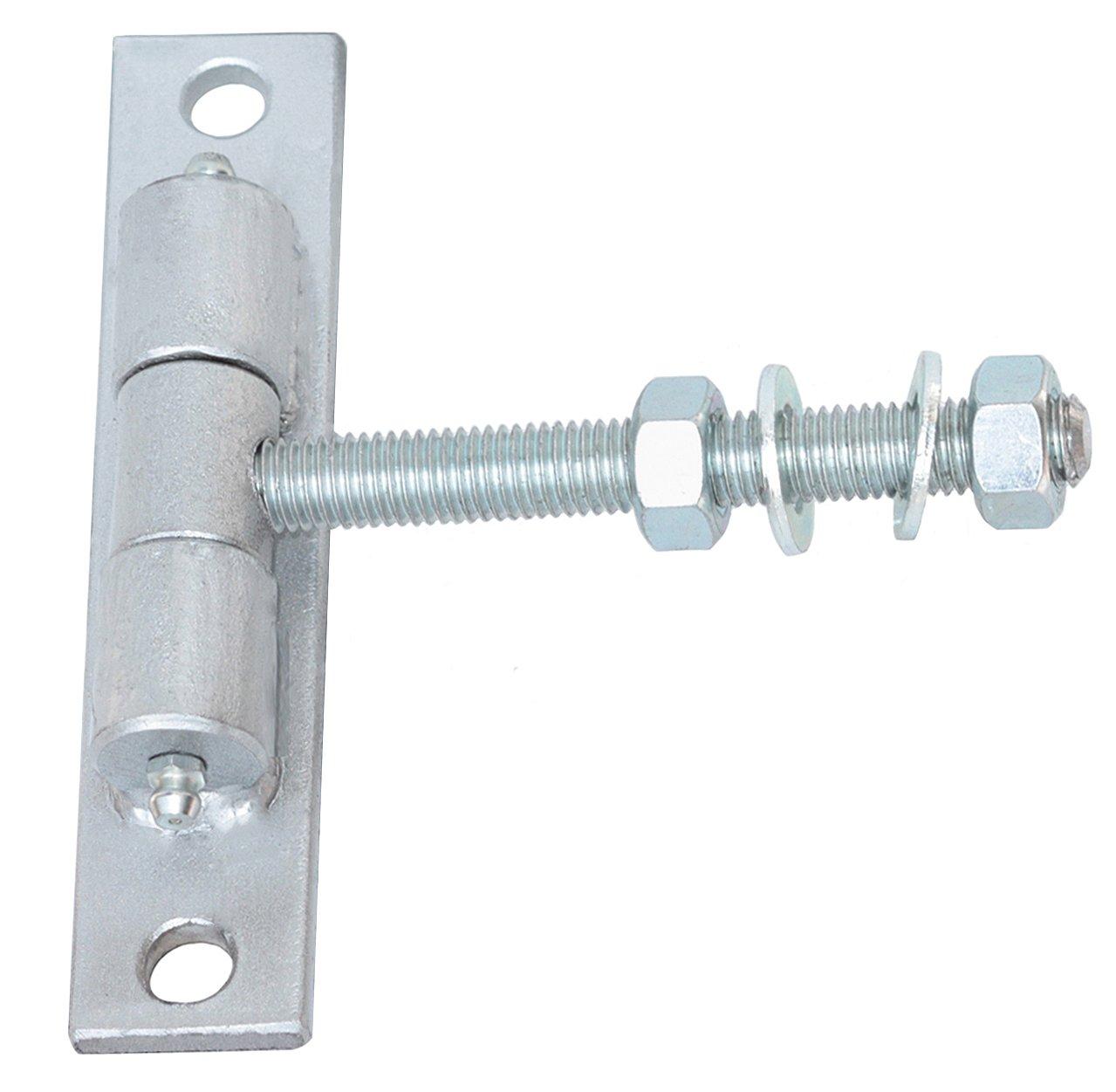 Tor Angel regolabile porta cerniera haeng Cerniere filettato M12/L100/mm verniciato a polvere con 800h8/Targa in argento