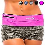 Running Belt Best Waist Pack: Fanny Pouch Waistband Case (Pink Sport Fit) Holds All Cell Phones Sports Fitness Holder Bag fits Women Men Jog Runners With Water Resistant Zipper Pocket All Waist Sizes