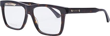 Gucci GG 0268O 002 55,gafa vista hombre,montura acetato marrón havana rectangular.