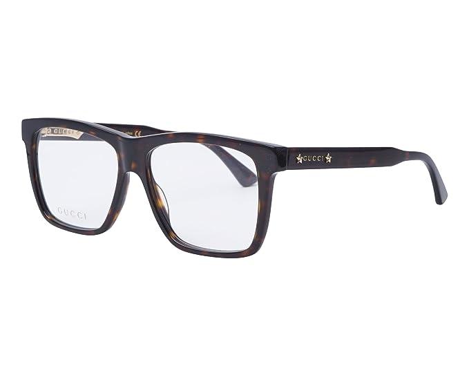 1ecda72998 Gucci GG 0268O 002 55, gafa vista hombre, montura acetato marrón havana  rectangular.: Amazon.es: Ropa y accesorios