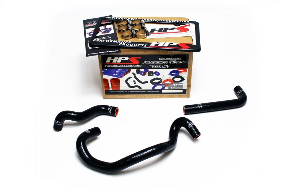 HPS 57-1422-BLK FC3S Black Silicone Heater Coolant Hose Kit