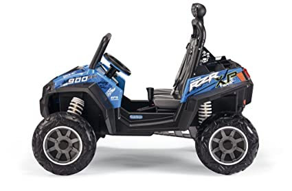 Peg Perego quesos od0084 12 V Polaris Ranger RZR 900, vehículos, Azul: Amazon.es: Juguetes y juegos