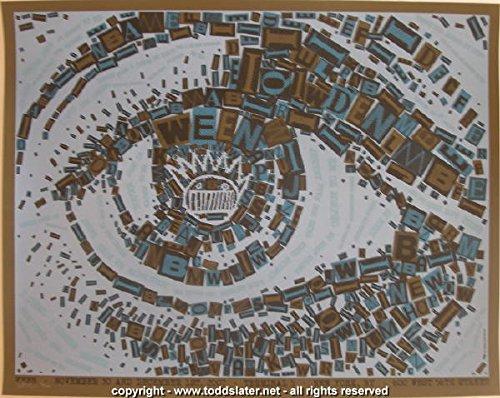 Original Rare Lithograph (2007 Ween - NYC Silkscreen Concert Poster by Todd Slater)