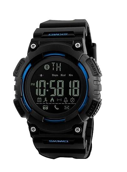 digitales reloj inteligente deportes al aire libre de los hombres de silicona superiores actividad diaria pulsera inteligente para ios android: Amazon.es: ...